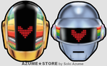 Daft Punk Friendship Necklaces Acrylic Charms by SoloAzume