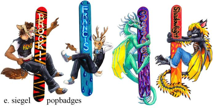 PopBadges Round 4 by FablePaint
