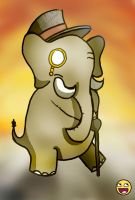 Elephants in the 1800s by Marios-Tri4ce