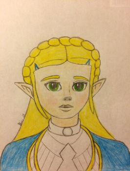 BoTW Princess (Colored) by LOZRocksmysocks77