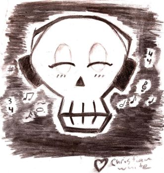 Skull Music by chrissythecat
