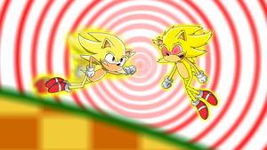 Super Sonic Vs. Super Sonic by DanielPalmer
