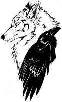 Caliga Raven tattoo by RavenSilverclaw