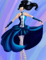 TARDIS Dress Concept by starlingthefairy