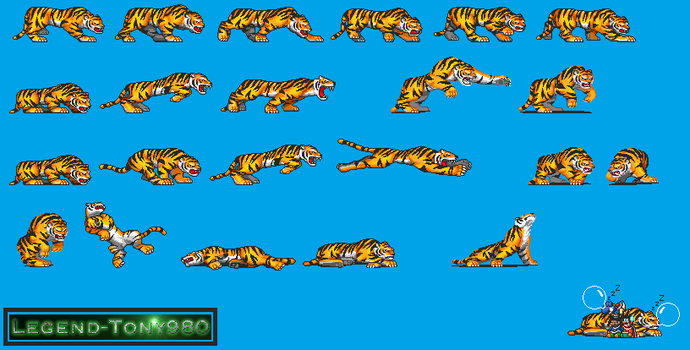 Super Mario Bros. 3-Styled Tigers (Incomplete) by Legend-tony980