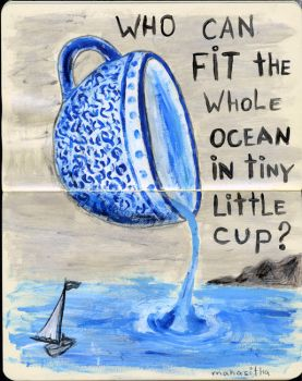 blue cup 0 by mahasitha