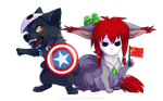 chibi_com_Michel and Luciuse by azzai