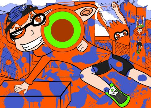 Splatoon - Paint the Town Orange by GenerationKO