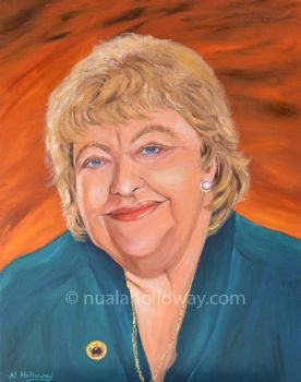 Portrait of Maeve Binchy by NualaHolloway