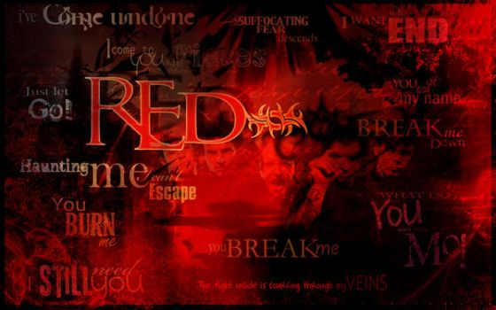 RED - Tribute Wallpaper by InvisibleRainArt