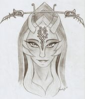 Midna portrait by SuperTawaifaQueen