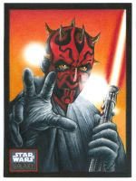 Darth Maul - Galaxy 6 Sketch Card by Erik-Maell