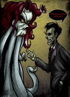 Wormwood and the Tentacle Skull lady by JarOfComics