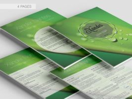 Your Journey 4 Page Resume CV Template 2 by CursiveQ-Designs