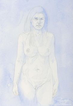 Underpainting for Liz by reubennegron