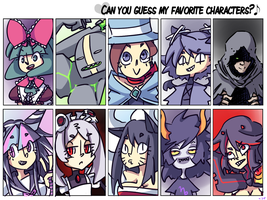 CAN YOU GUESS MY FAV CHARAS? by J5-daigada