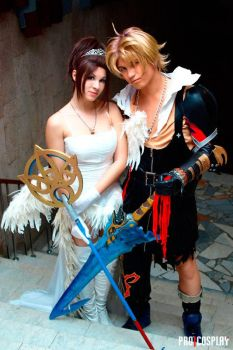 Yuna and Tidus together by GarnetTilAlexandros