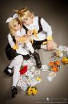 Kagamine twins Alice sacrifice by mila-tiemy
