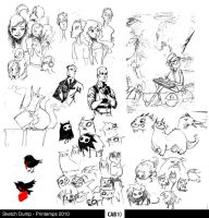 Sketch Dump - Spring 2010 by Cabycab