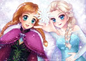 Sisters and Snowflakes by AikasCupcake