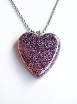 Pink and Black Glitter Heart by evrythngsblue