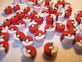 Pokeball Clay Cane by ashitx