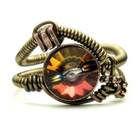 Volcano Steampunk Ring by CatherinetteRings