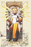 Overwatch Nouveau: Mercy by Kasu-kan