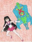 Martian Manhunter Sailor Mars by minkous