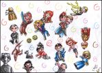 Doctor Who-No Gravity Chibi by FuriarossaAndMimma
