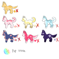 Pupadoof Adoptable Set 2 .: CLOSED :. by cloudsnstuff