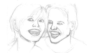 Andrew and Hannah Sketch by Loralthea