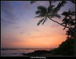 Kona Sunset by manaphoto