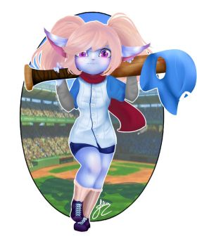 Baseball Poppy / Poppy Rebatedora by JuliaKawaiiNeko