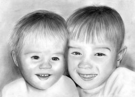 Children drawn in pencil by slippy88