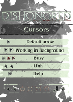 Dishonored Cursors by subject-zero-ru