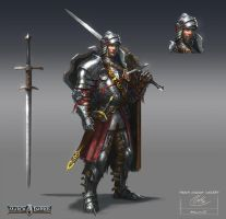 Heavy knight concept by ARTOFJUSTAMAN