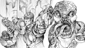 Gears of War Contest Lines by JeffyP