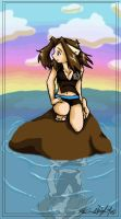 On A Rock... by inuyashasno1girl