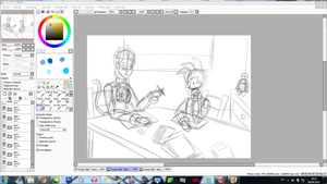 WIP - Frozen-DBZ - Elsa and Gohan - Study time by JackFrostOverland