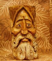 Woodland Elf Wood Carving 2 by RiverOtterWidget
