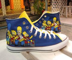 The Simpsons , Custom Shoes by Annatarhouse