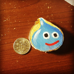 Dragon Quest Slime Wood Round by tacoroach