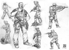some studies - soldiers by chclaudino
