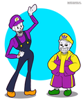 sans and pap as Wario and Waluigi by legend654
