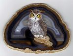 Great Horned Owl on Agate by Nevuela