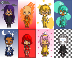 Four Lords Concept 02 - Chibi + Judges by Eventua