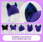 Spiral Galaxy Space Cat Hat by cutekick