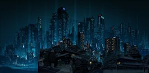 Dystopia matte painting by wavenwater