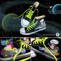 Buzz Lightyear Chucks by Bobsmade